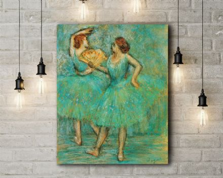 Edgar Degas: Two Dancers(2).  Fine Art Canvas.